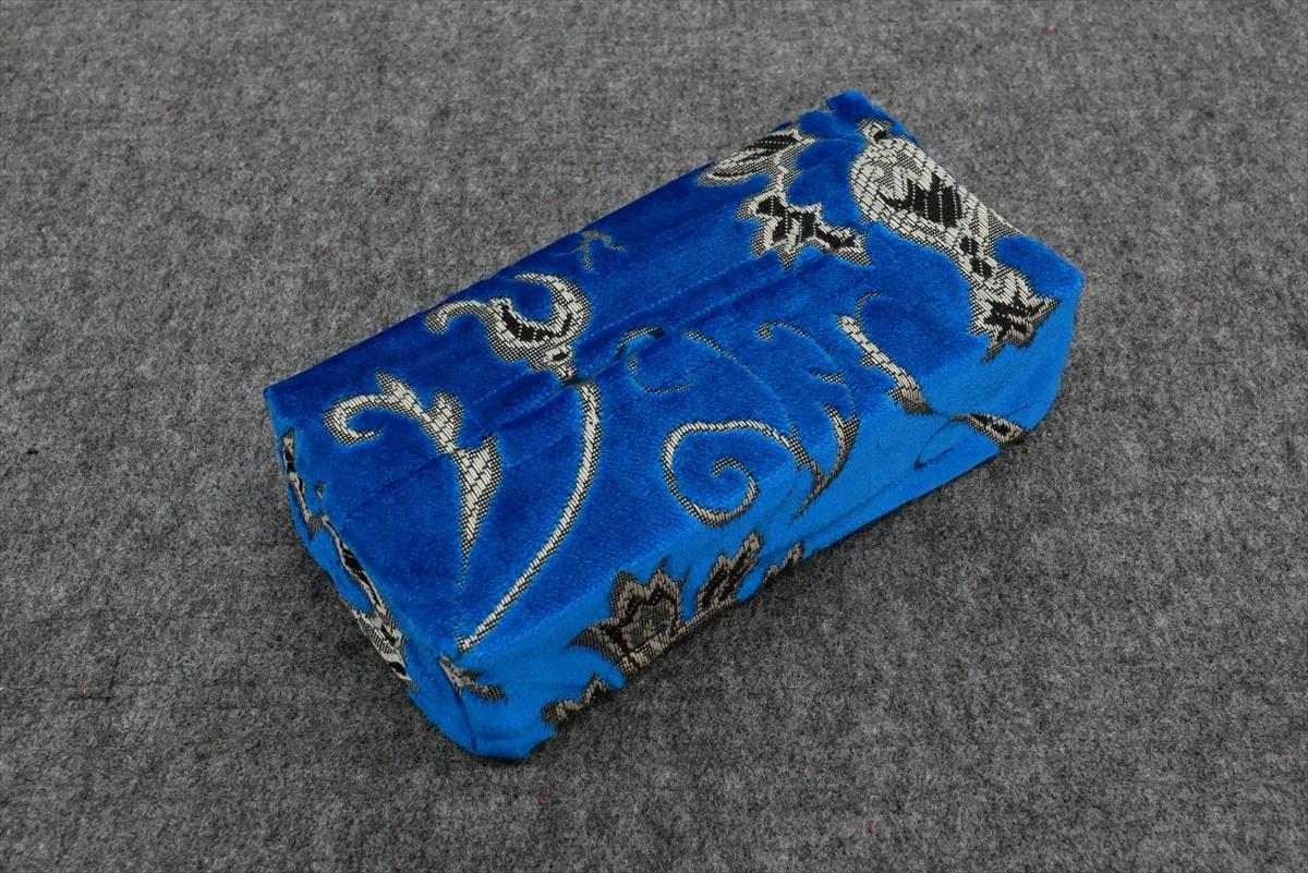 ティッシュケース モンブラン ブルー (ティッシュ付)