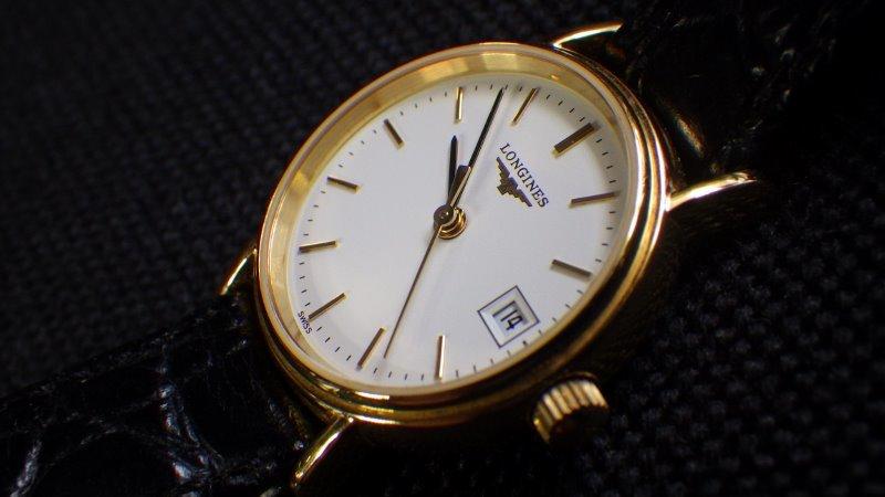 ★ LONGINES ロンジン 【 L4.220.2 】ゴールド レディース クォーツ腕時計★美品_画像6