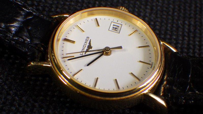★ LONGINES ロンジン 【 L4.220.2 】ゴールド レディース クォーツ腕時計★美品_画像7