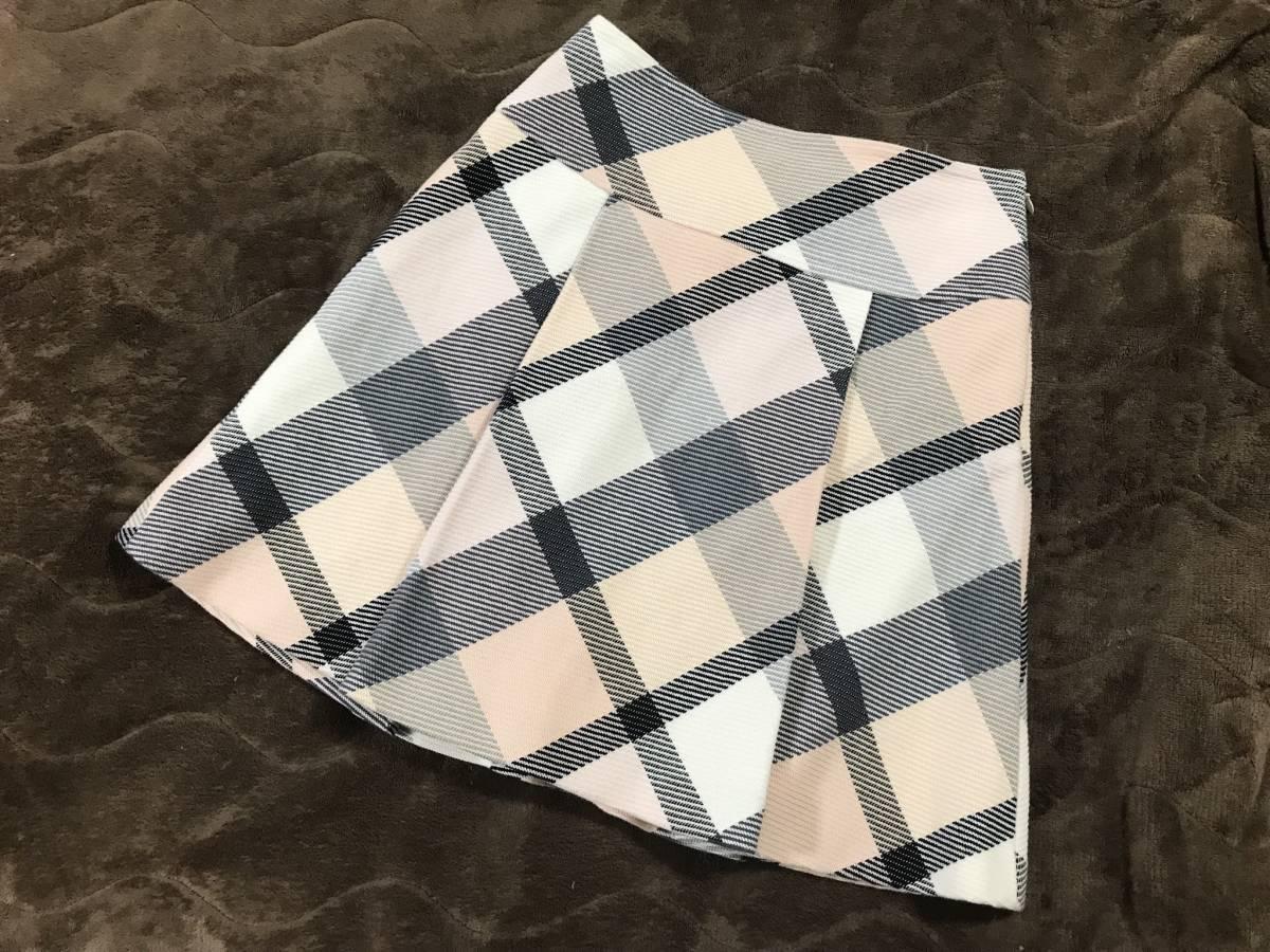 ブルーレーベル クレストブリッジ ピンク チェック スカート 36 バーバリー_画像3