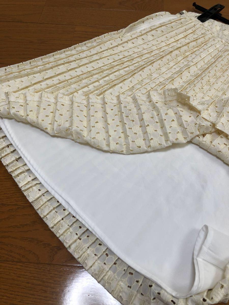 定価1万以上一度着Ferouxプリーツスカート2サイズM38フェルゥ_画像2
