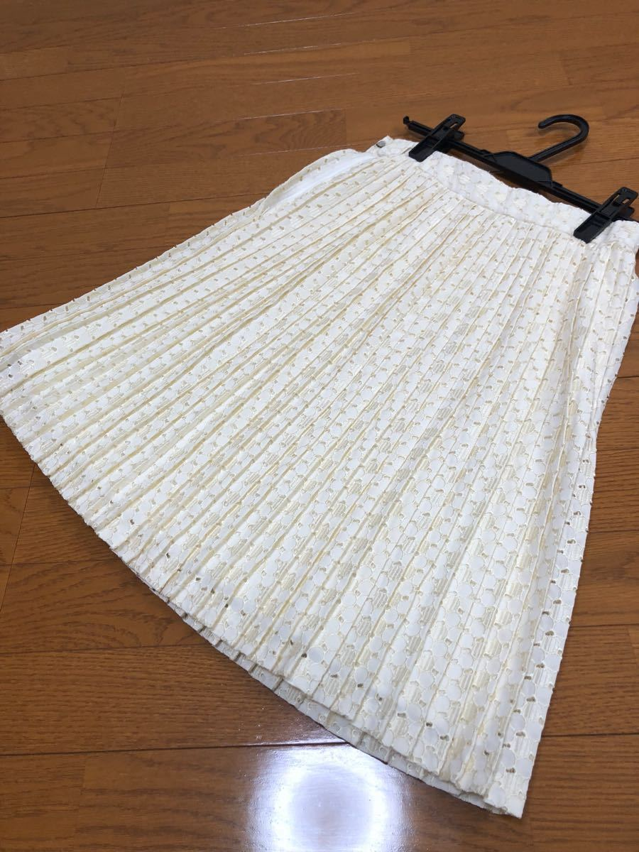 定価1万以上一度着Ferouxプリーツスカート2サイズM38フェルゥ_画像1