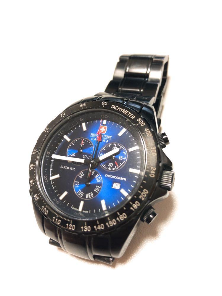 Swiss Military HANOWA /6-5100 腕時計 クロノグラフ ジャンク