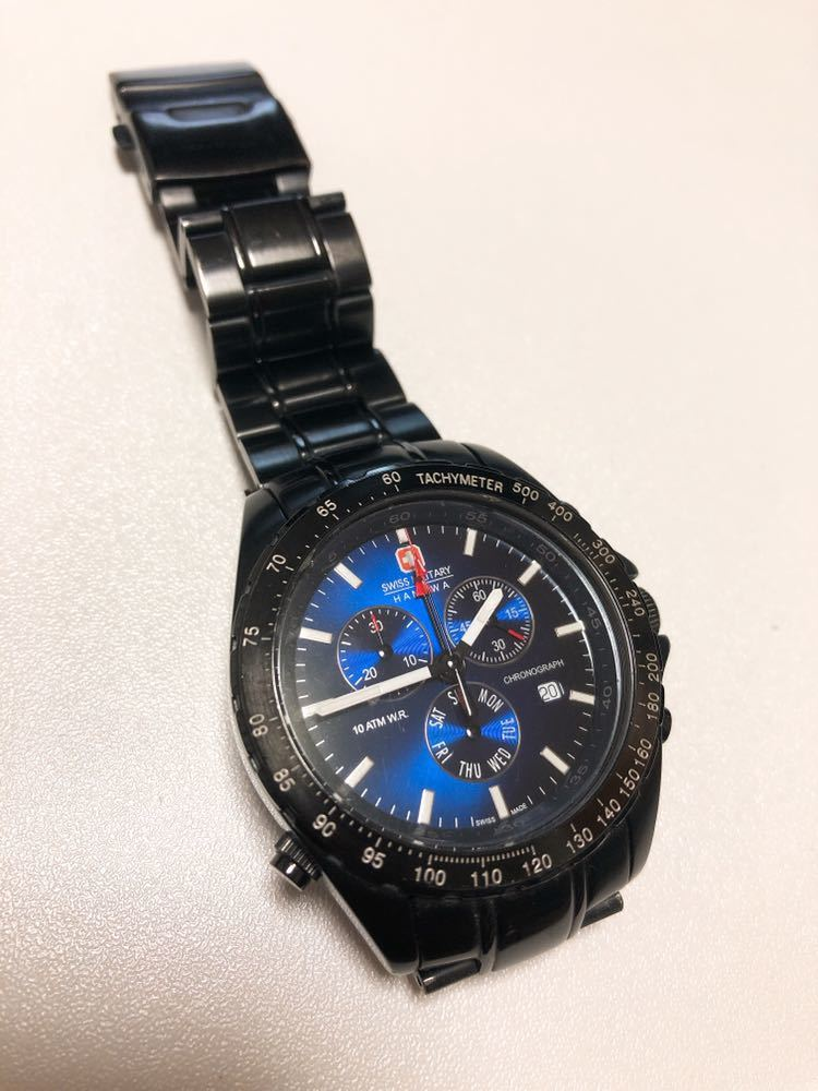Swiss Military HANOWA /6-5100 腕時計 クロノグラフ ジャンク_画像2