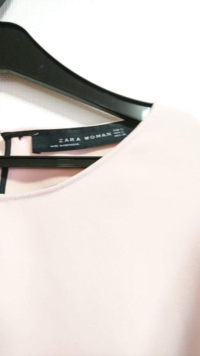 ZARA ザラ フリル袖 着痩せ ブラウス S トップス ピンク_画像3