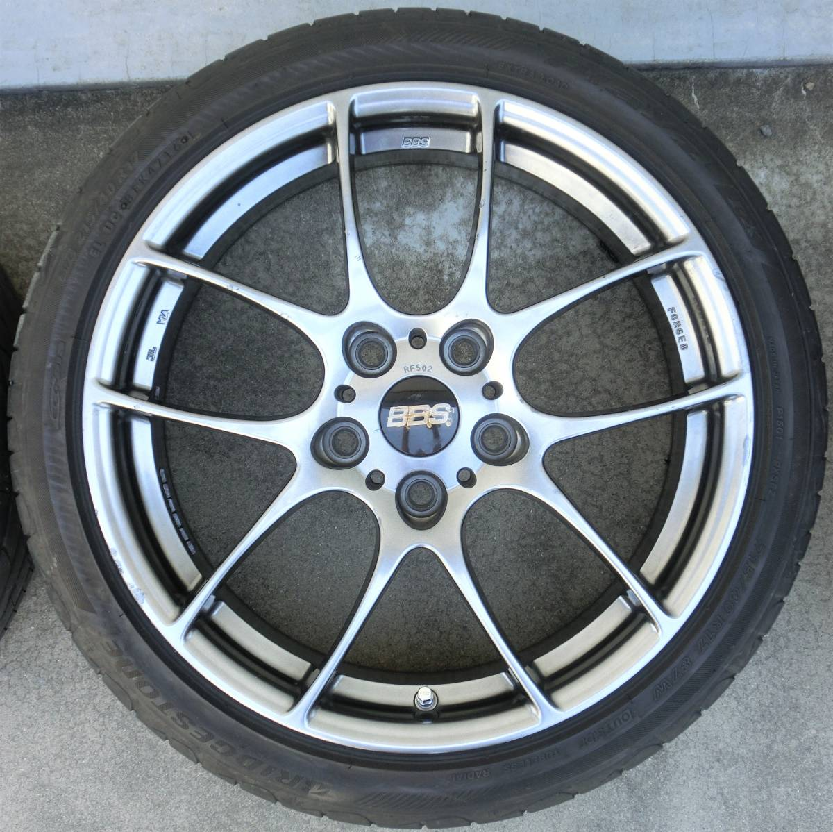 BBS RF 17x7.0J+50 114.3 5H RF502 C-HR ヴェゼル スイフト CR-Z ストリーム CX-3 EP3シビック タイプR RG-R RS-GT レイズCE28N等_画像5