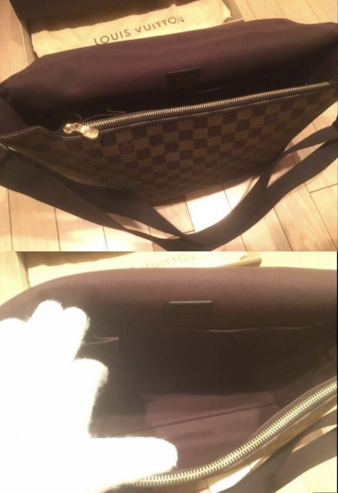 LOUIS VUITTON ダミエ ショルダーバッグ 正規店購入 ほぼ未使用/ 極美品 / ルイ・ヴィトン_画像3