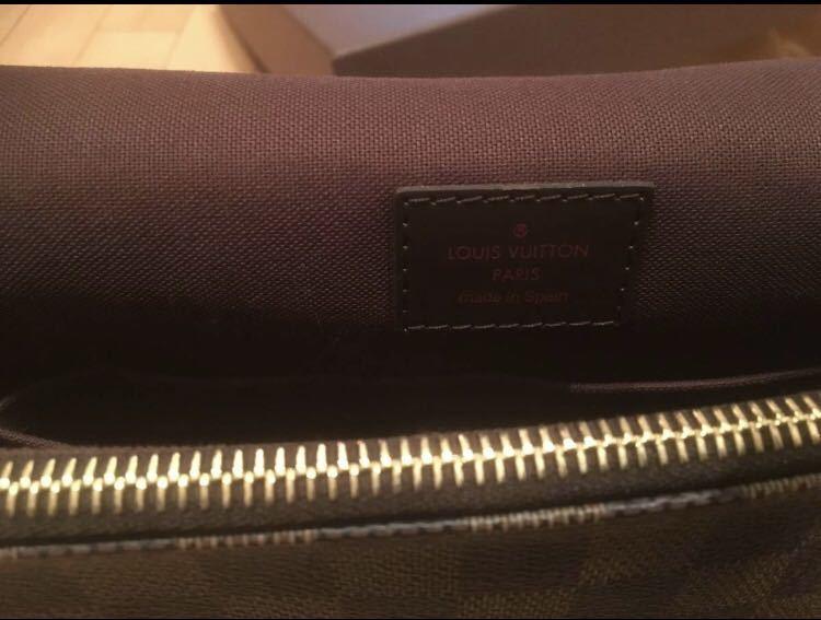 LOUIS VUITTON ダミエ ショルダーバッグ 正規店購入 ほぼ未使用/ 極美品 / ルイ・ヴィトン_画像7