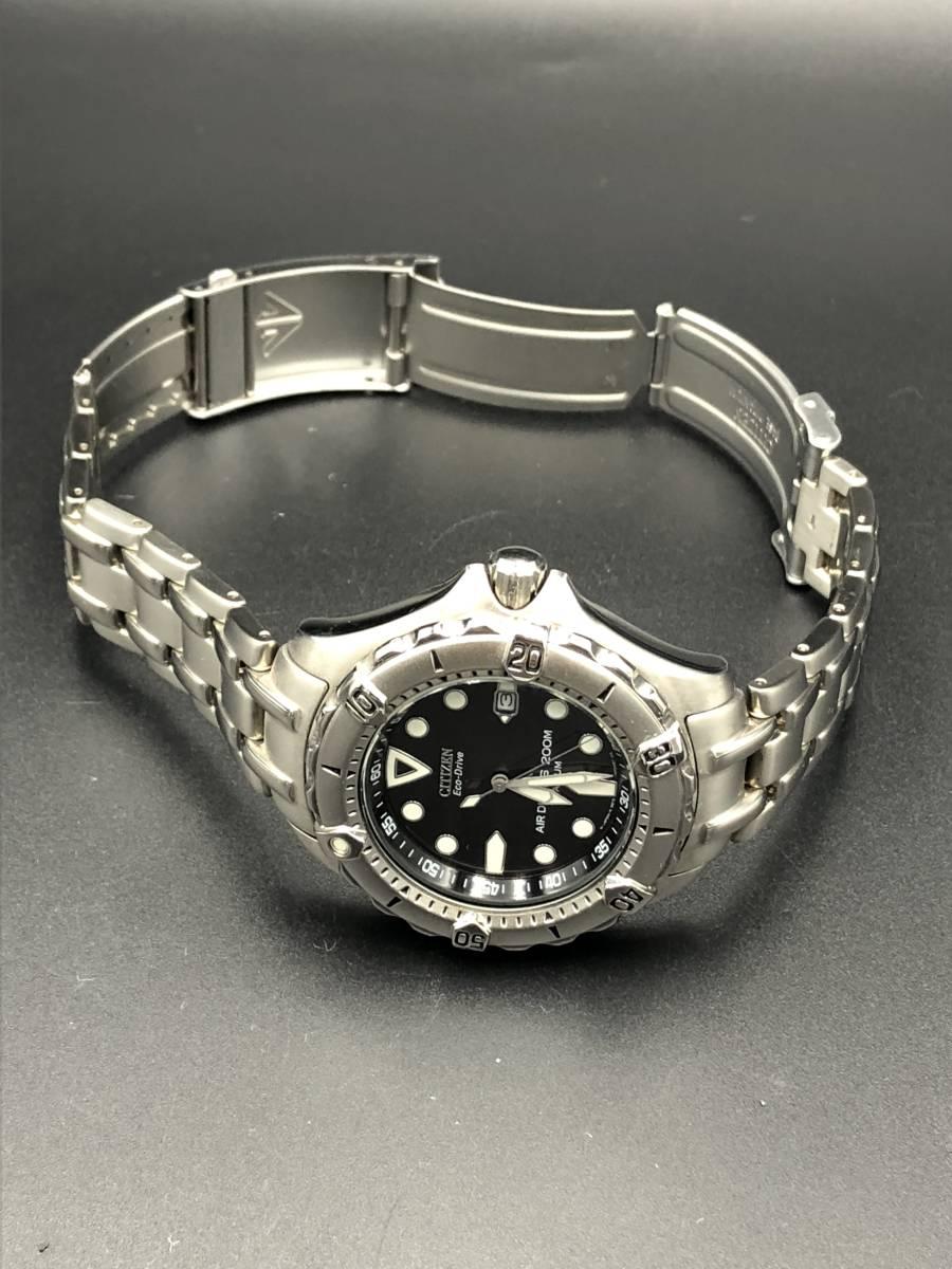 腕時計 シチズン プロマスター エアダイバー 200M エコドライブ メンズ チタン B872-H26035 b4518_画像3