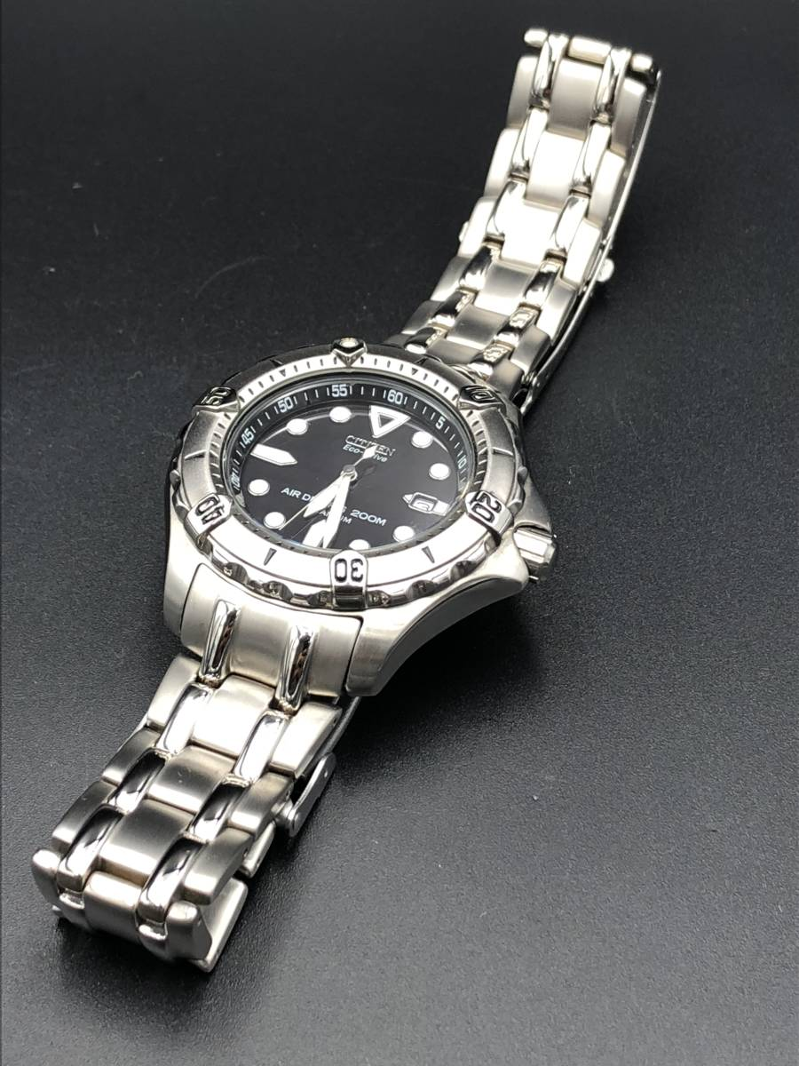 腕時計 シチズン プロマスター エアダイバー 200M エコドライブ メンズ チタン B872-H26035 b4518_画像4