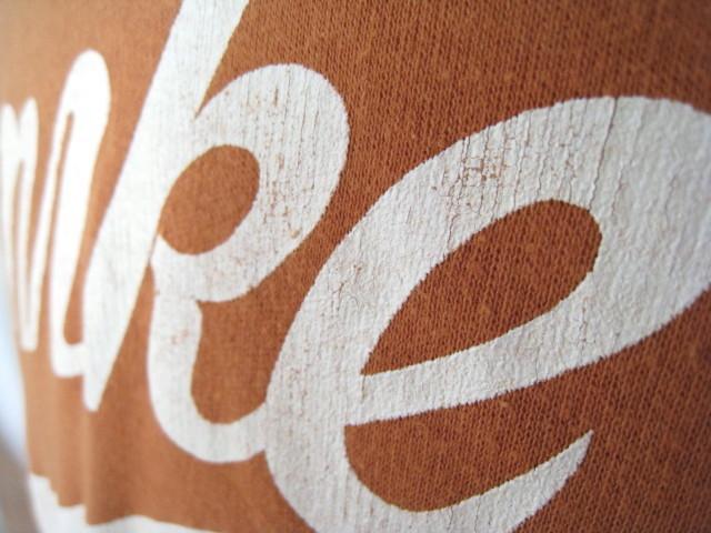 70s NIKE ナイキ 筆記体ロゴ フットボール Tシャツ ビンテージ オリジナル 検)チャンピオン バータグ 風車 ゴツナイキ 浮世絵 マラソン_画像3