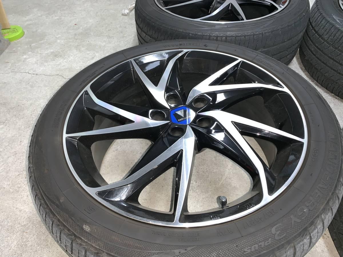 プリウス 50系 モデリスタ 17インチ アルミホイール&タイヤセット 1台分 ナット付き 売り切り_画像2