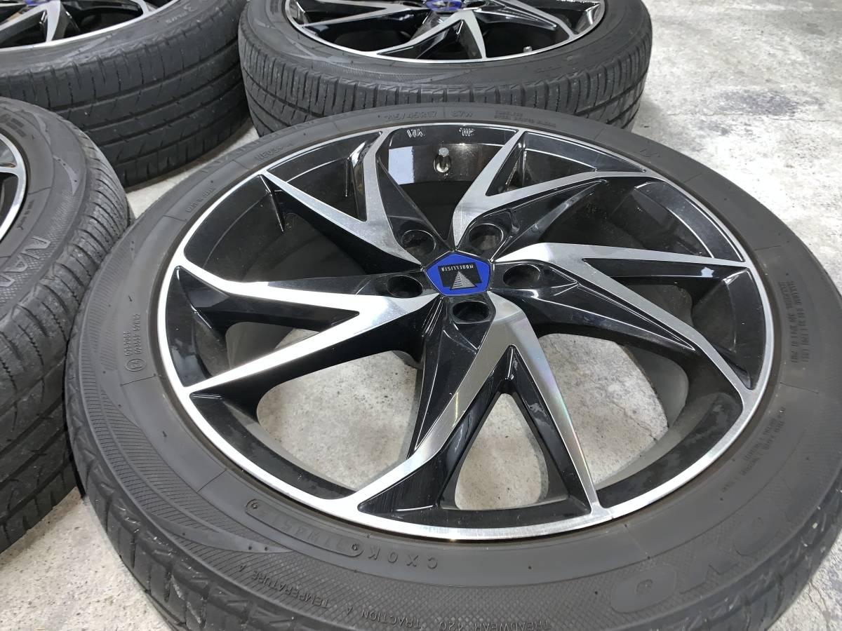 プリウス 50系 モデリスタ 17インチ アルミホイール&タイヤセット 1台分 ナット付き 売り切り_画像3