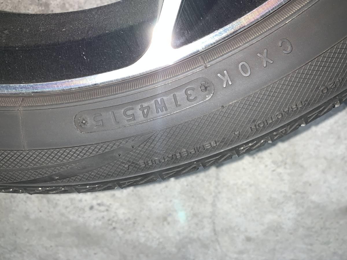 プリウス 50系 モデリスタ 17インチ アルミホイール&タイヤセット 1台分 ナット付き 売り切り_画像6