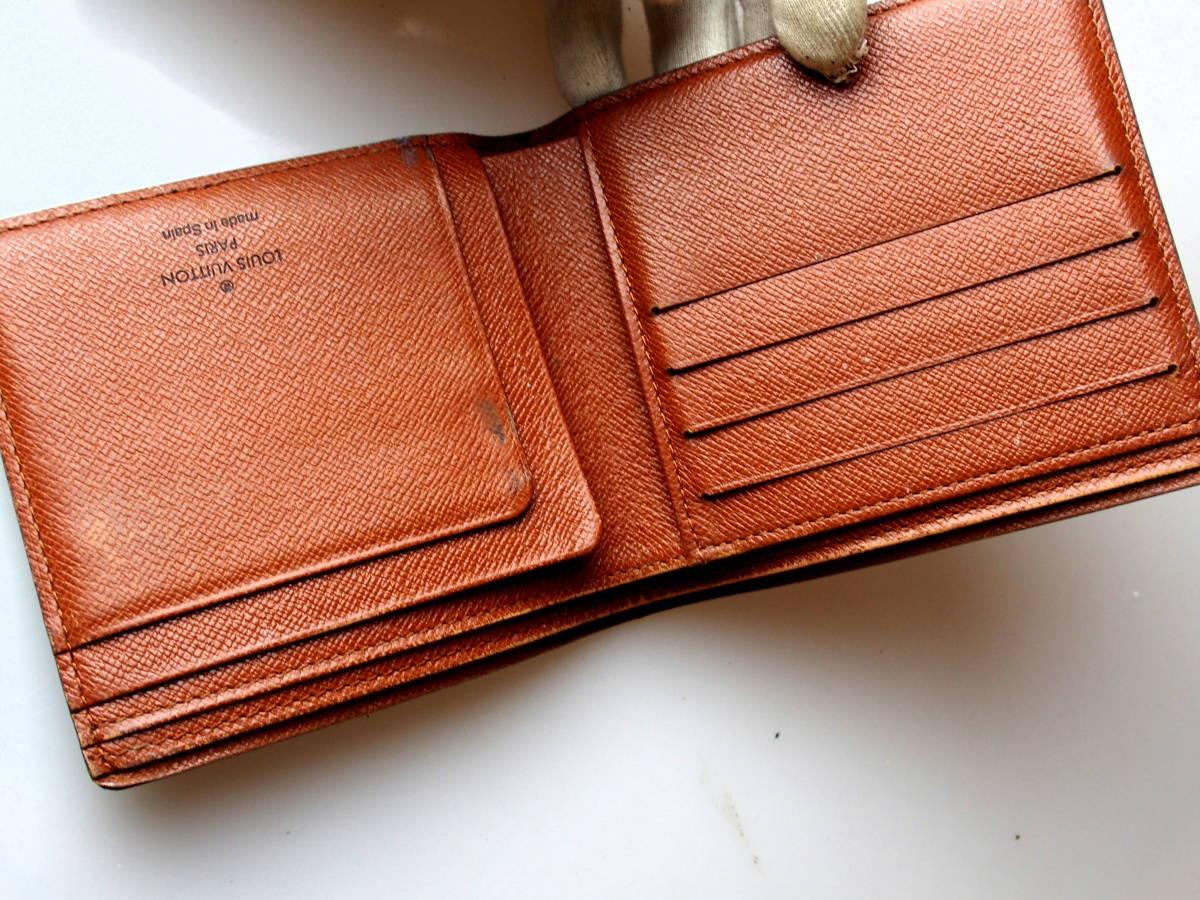 5952正規品鑑定済★ルイヴィトン★モノグラム★二つ折り財布_画像8