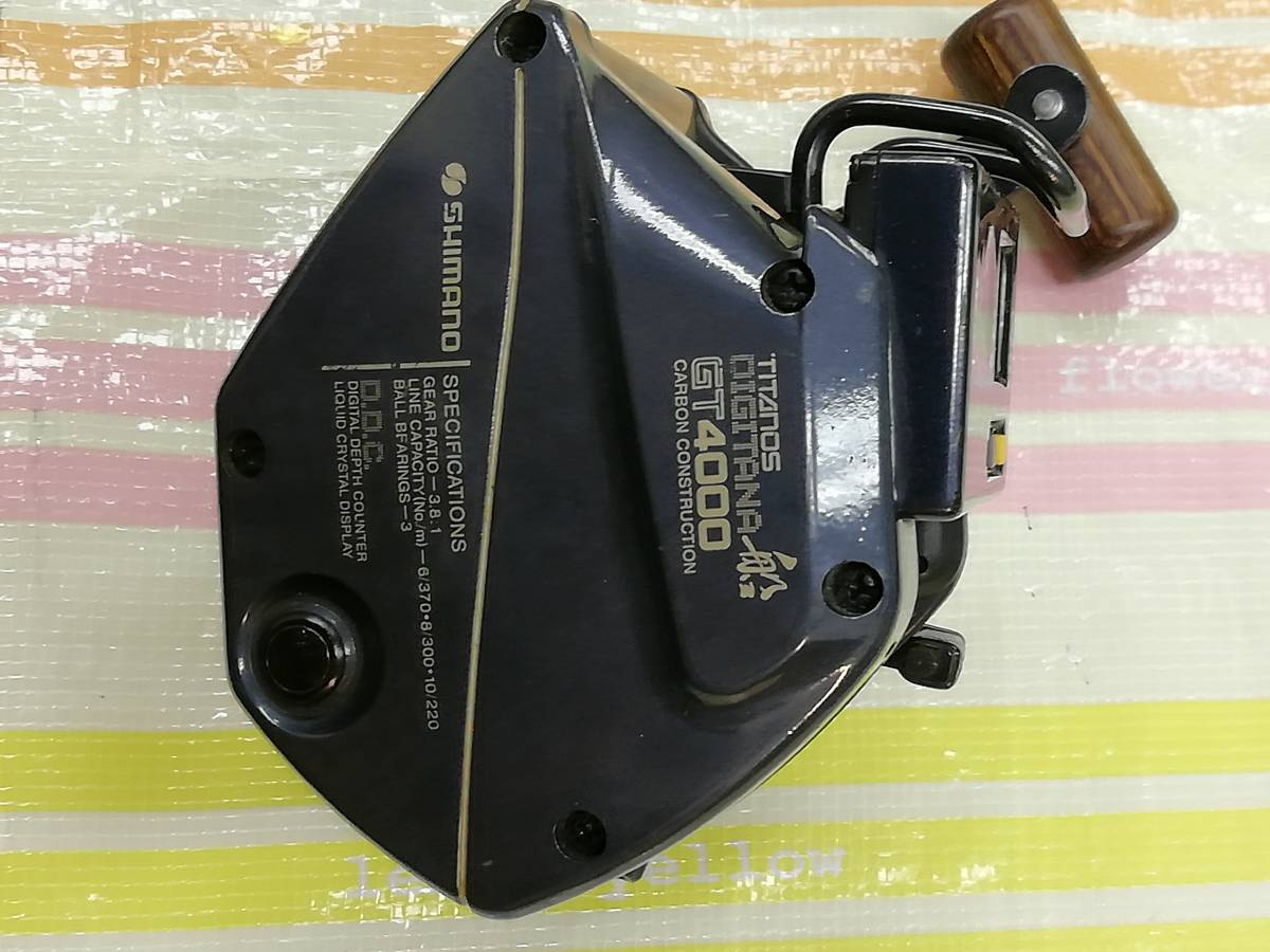 SHimano TITANOS DIGITANA 船GT4000 両軸リール USED品_画像8