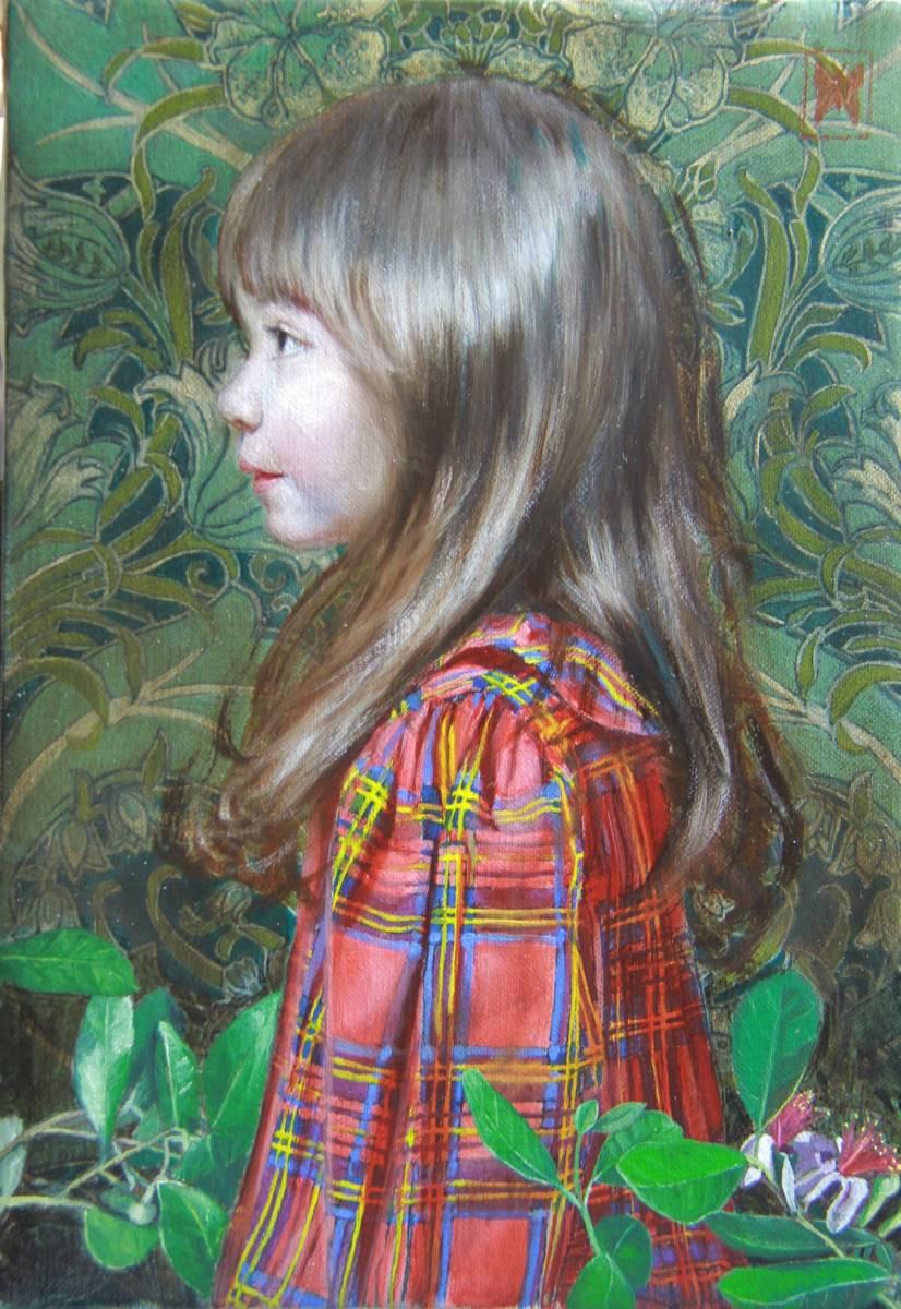 赤いチェックの服を着た少女(リラI) Hiroki Fukuda 275x190mm 2019年Arcadia ContemporaryのブースよりLA ART SHOW出品(ロサンゼルス)_画像8