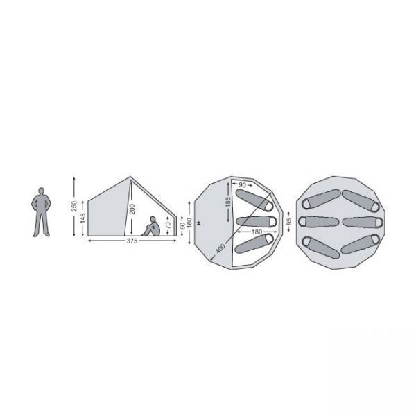 1円~ ノルディスク NORDISK Asgard 12.6 アスガルド+ジップインフロア 2点セット//6人用 キャンプ テント アウトドア_画像2