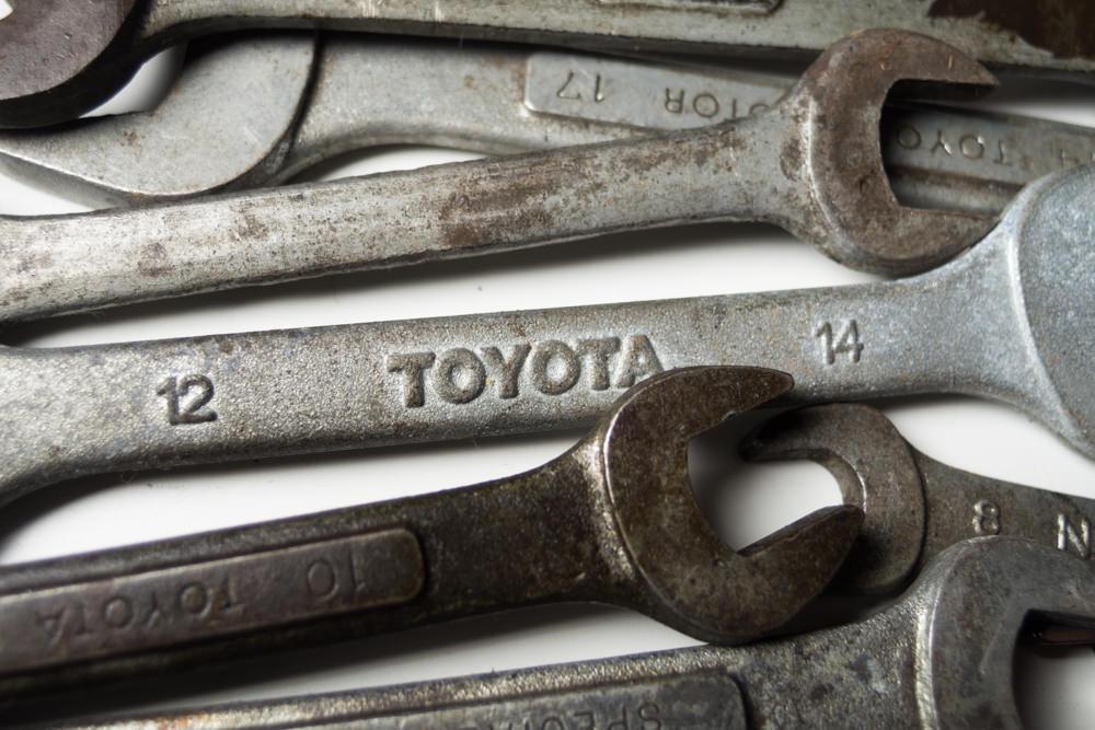 [即決]オープンレンチ自動車工具 DIY まとめて 業務用 整備用工具 toyota トヨタ自動車_画像5