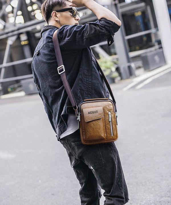 【1円~☆送料無料】MUGAR ミニ ショルダーバッグ フェイクレザー 安心の国内発送♪_画像5