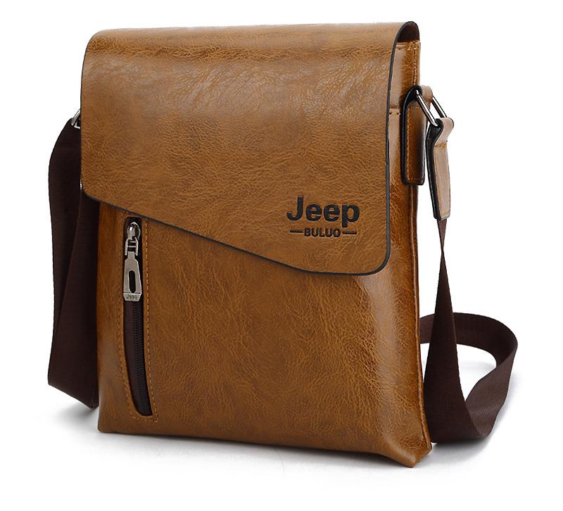 【1円~☆送料無料】メンズ ショルダーバッグ Jeep 海外ブランド フェイクレザー 安心の国内発送♪