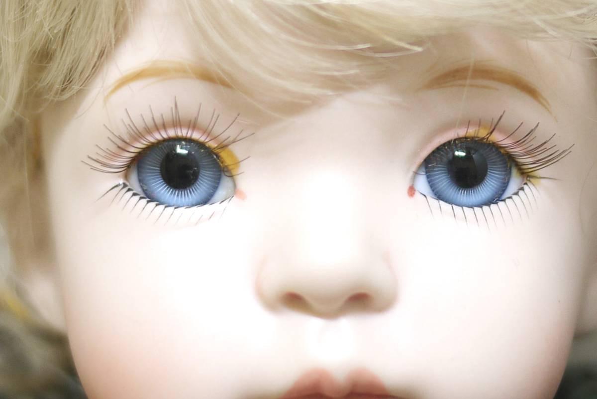 7*フランス人形 西洋人形 レトロ ビスク人形 女の子 Dalm97 MNO レース ドレス 木製 約52cm 置物 ディスプレイ アンティーク 骨董 1円から_画像2