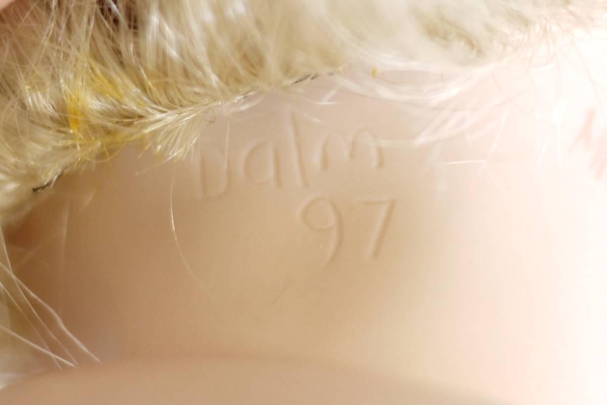 7*フランス人形 西洋人形 レトロ ビスク人形 女の子 Dalm97 MNO レース ドレス 木製 約52cm 置物 ディスプレイ アンティーク 骨董 1円から_画像9