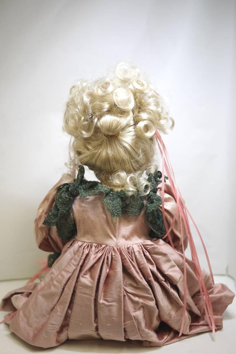 7*フランス人形 西洋人形 レトロ ビスク人形 女の子 Dalm97 MNO レース ドレス 木製 約52cm 置物 ディスプレイ アンティーク 骨董 1円から_画像5
