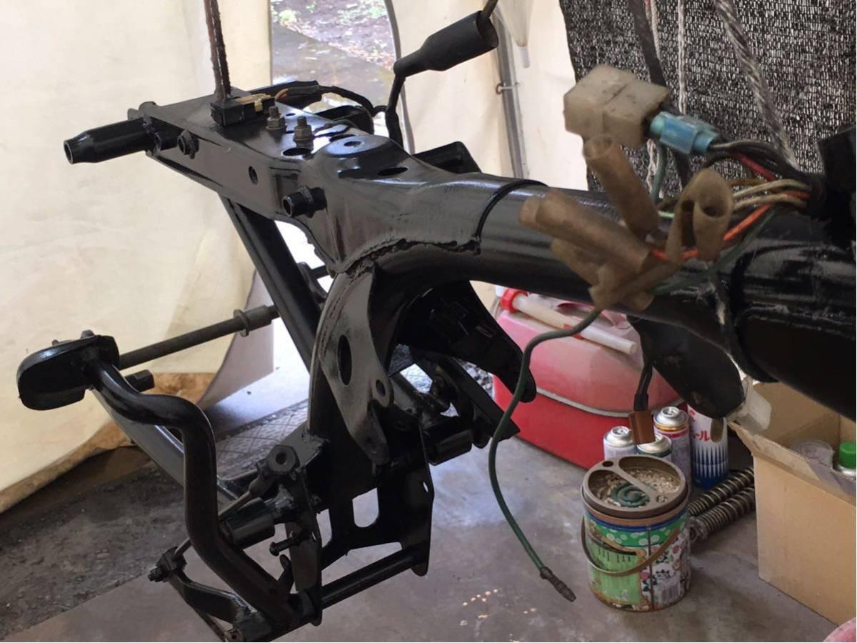 モンキー ゴリラ Z50J フレーム 書類有り 塗装済み 6V 4L スイングアーム メインハーネス ブレーキペダル 電装品 チェーンカバー_画像2