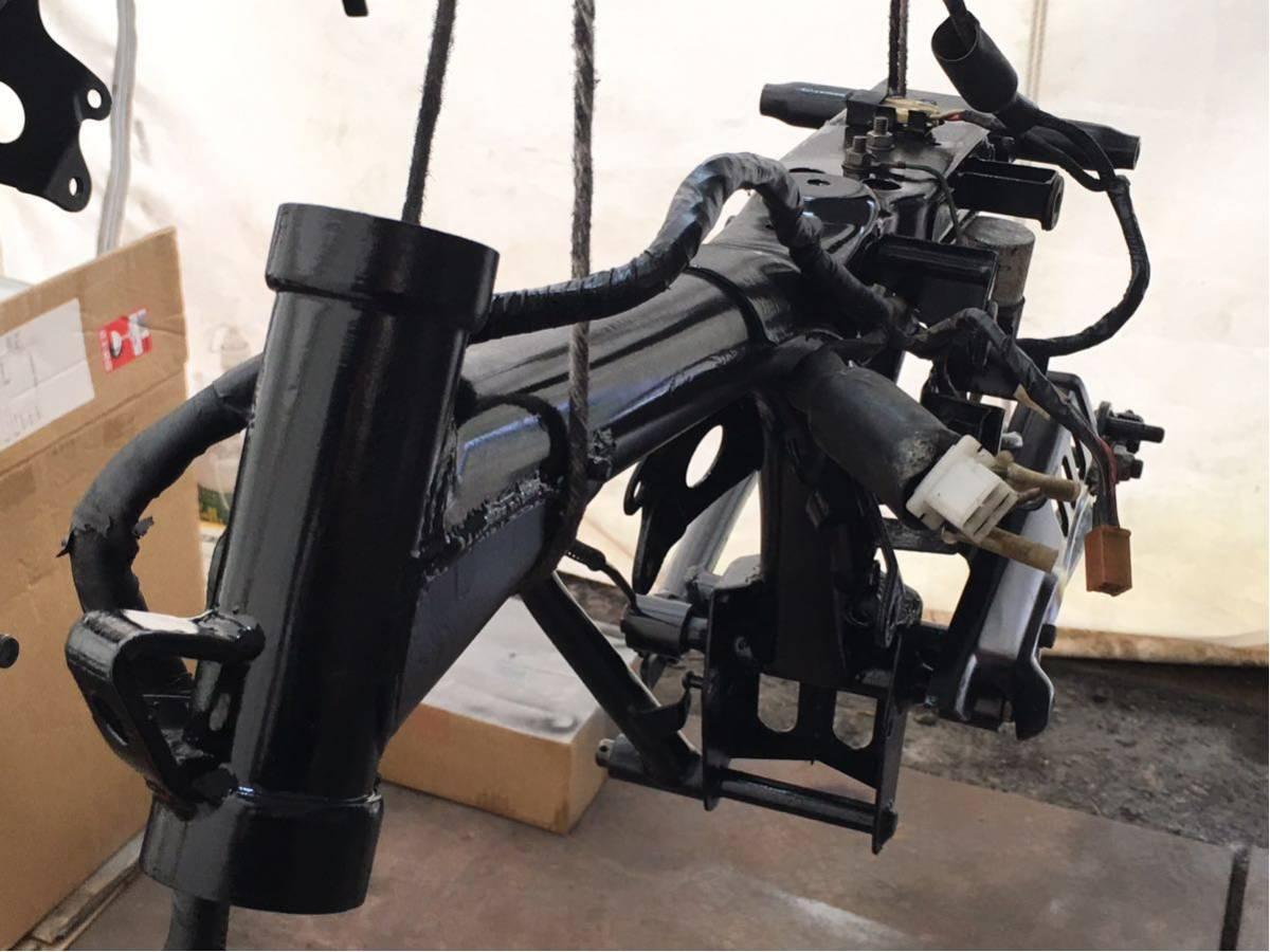 モンキー ゴリラ Z50J フレーム 書類有り 塗装済み 6V 4L スイングアーム メインハーネス ブレーキペダル 電装品 チェーンカバー