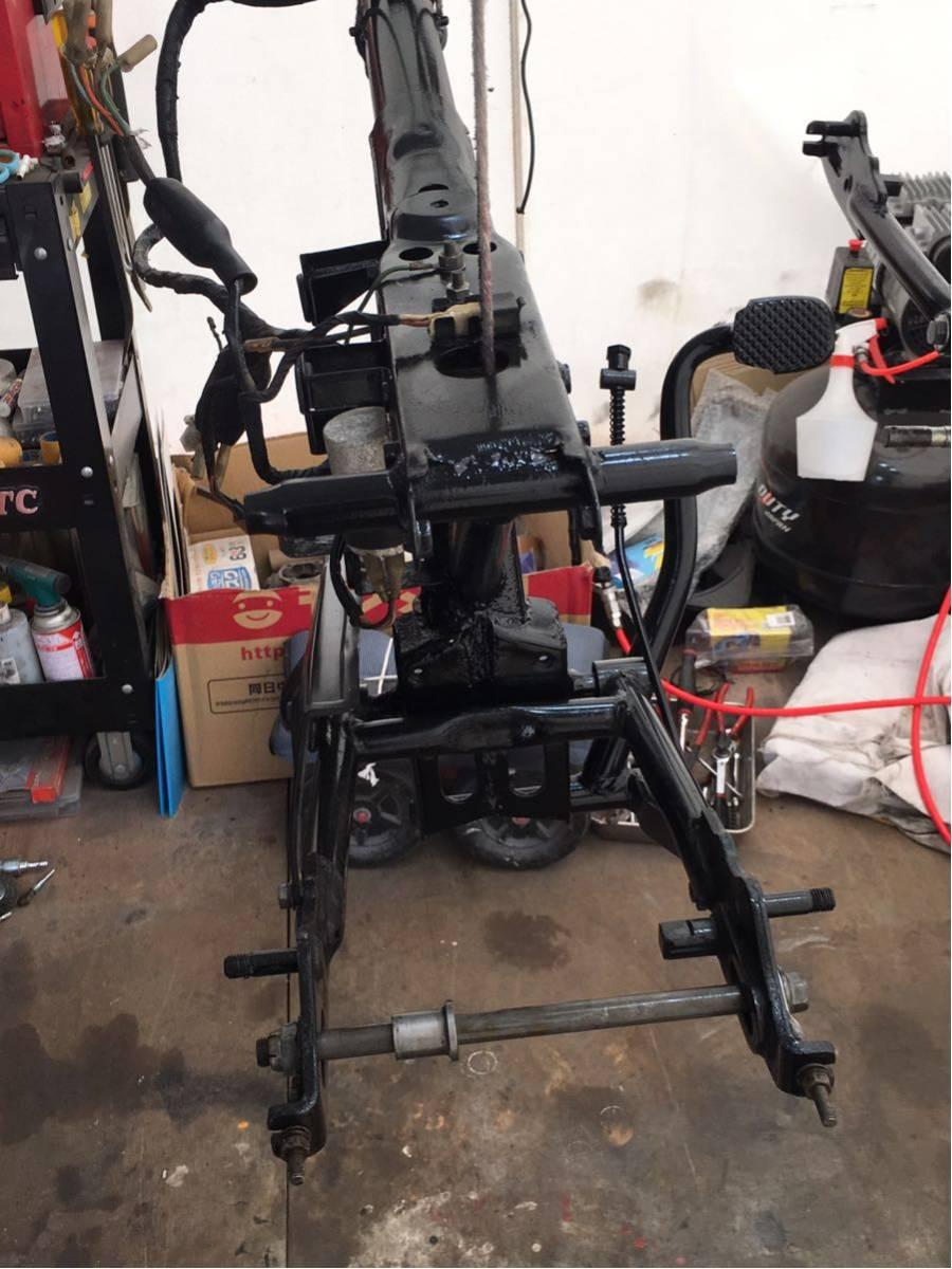 モンキー ゴリラ Z50J フレーム 書類有り 塗装済み 6V 4L スイングアーム メインハーネス ブレーキペダル 電装品 チェーンカバー_画像5
