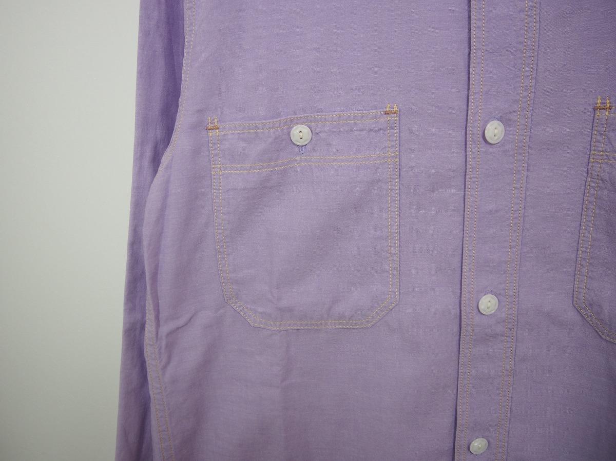 HIPSTERS REUNION FREEWHEELERSフリーホイーラーズ 長袖ワークシャツ FURTHER MAZ804 薄紫518J_画像3