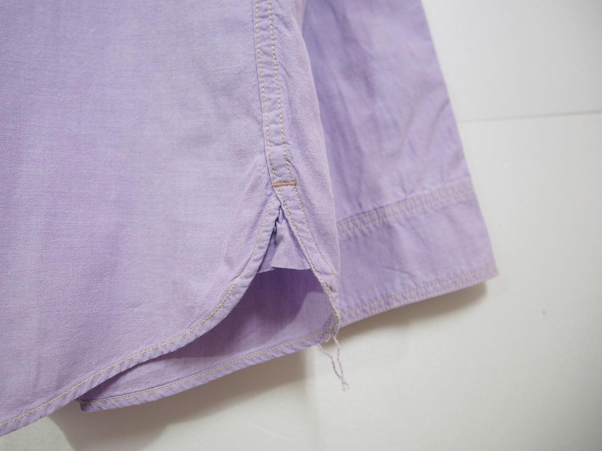 HIPSTERS REUNION FREEWHEELERSフリーホイーラーズ 長袖ワークシャツ FURTHER MAZ804 薄紫518J_画像6