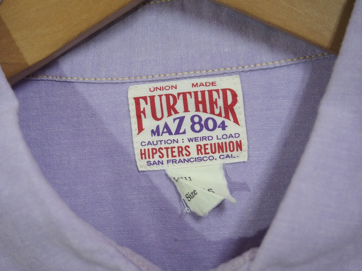 HIPSTERS REUNION FREEWHEELERSフリーホイーラーズ 長袖ワークシャツ FURTHER MAZ804 薄紫518J_画像4