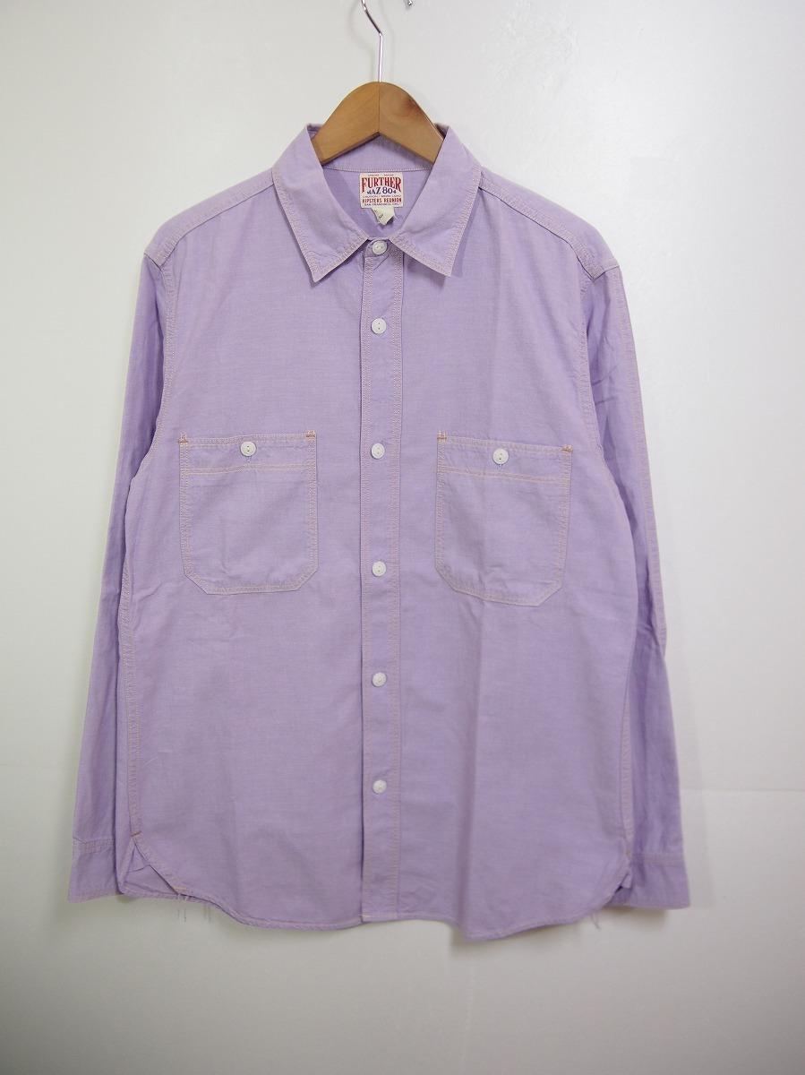 HIPSTERS REUNION FREEWHEELERSフリーホイーラーズ 長袖ワークシャツ FURTHER MAZ804 薄紫518J_画像1