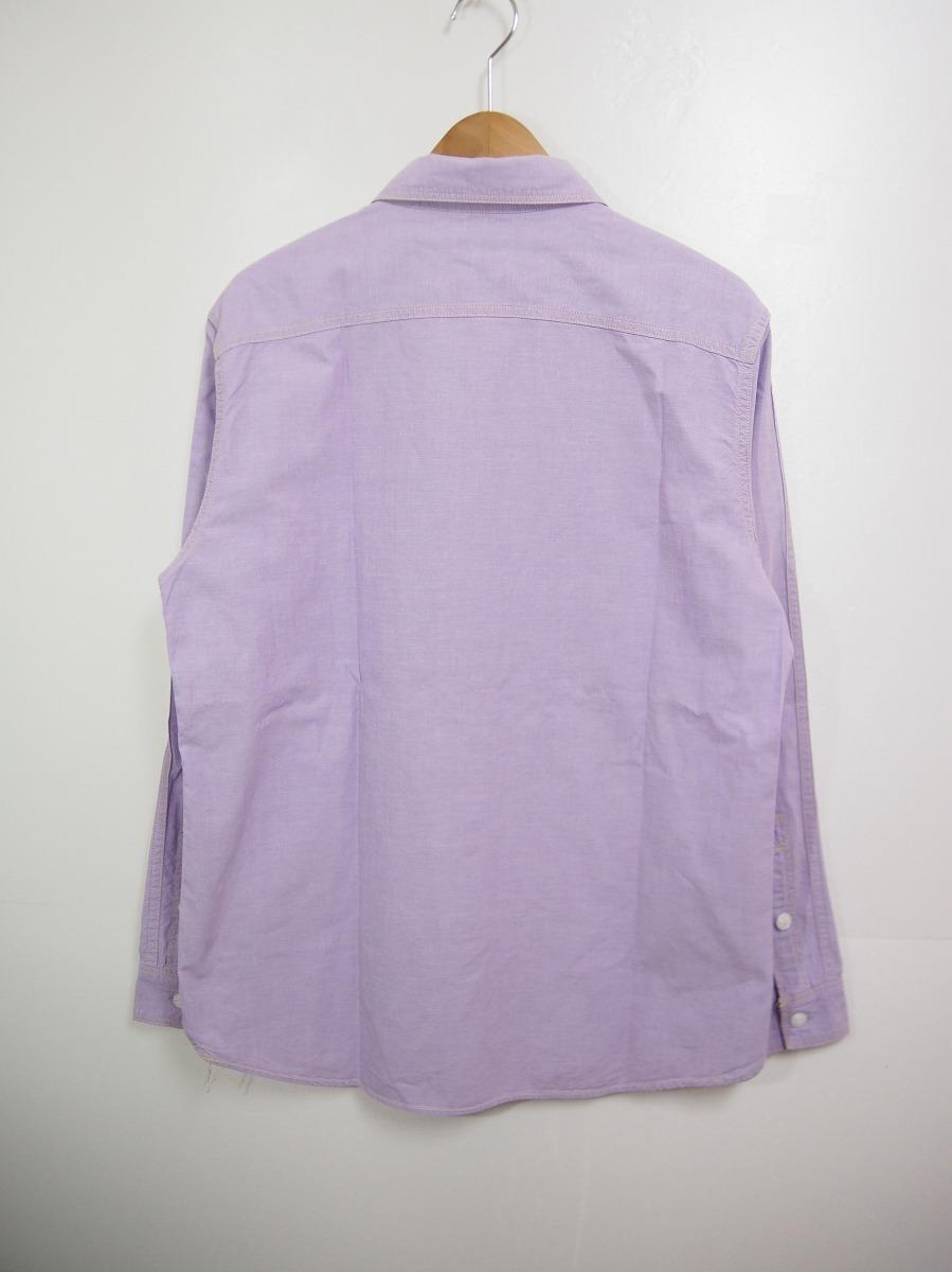 HIPSTERS REUNION FREEWHEELERSフリーホイーラーズ 長袖ワークシャツ FURTHER MAZ804 薄紫518J_画像2