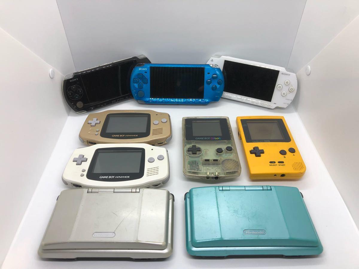 【大量】【ポータブルゲーム機】 PSP 3000 1000 ゲームボーイ カラー ポケット アドバンス DS ソニー sony 任天堂 動作未確認 ジャンク扱い