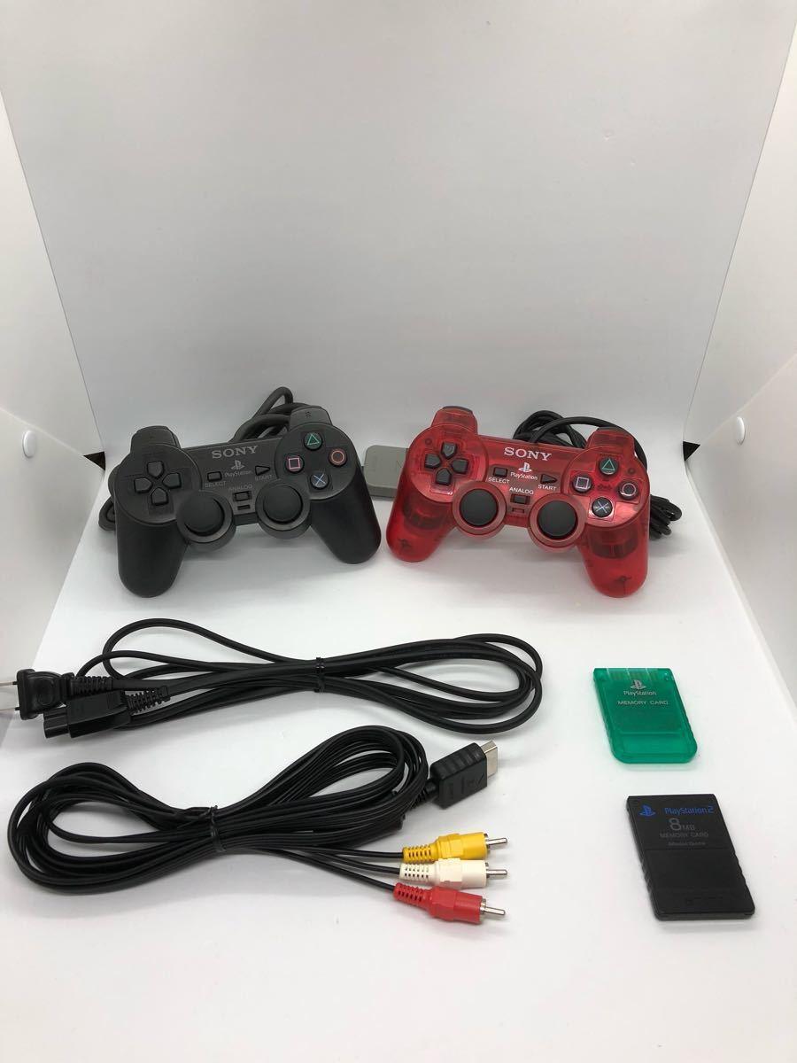 【極美品】PlayStation2 プレステ2 PS2 SCPH-10000 付属品完備 動作確認済 箱 動作良好 デュアルショック2 オマケソフト付 sony PS4_画像6