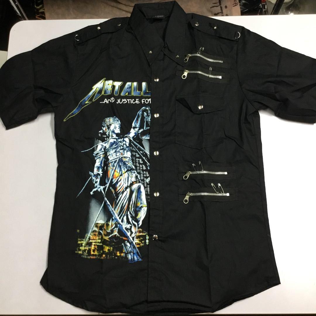 バンドデザイン半袖シャツ Lサイズ メタリカ METALLICA ① DBR2D