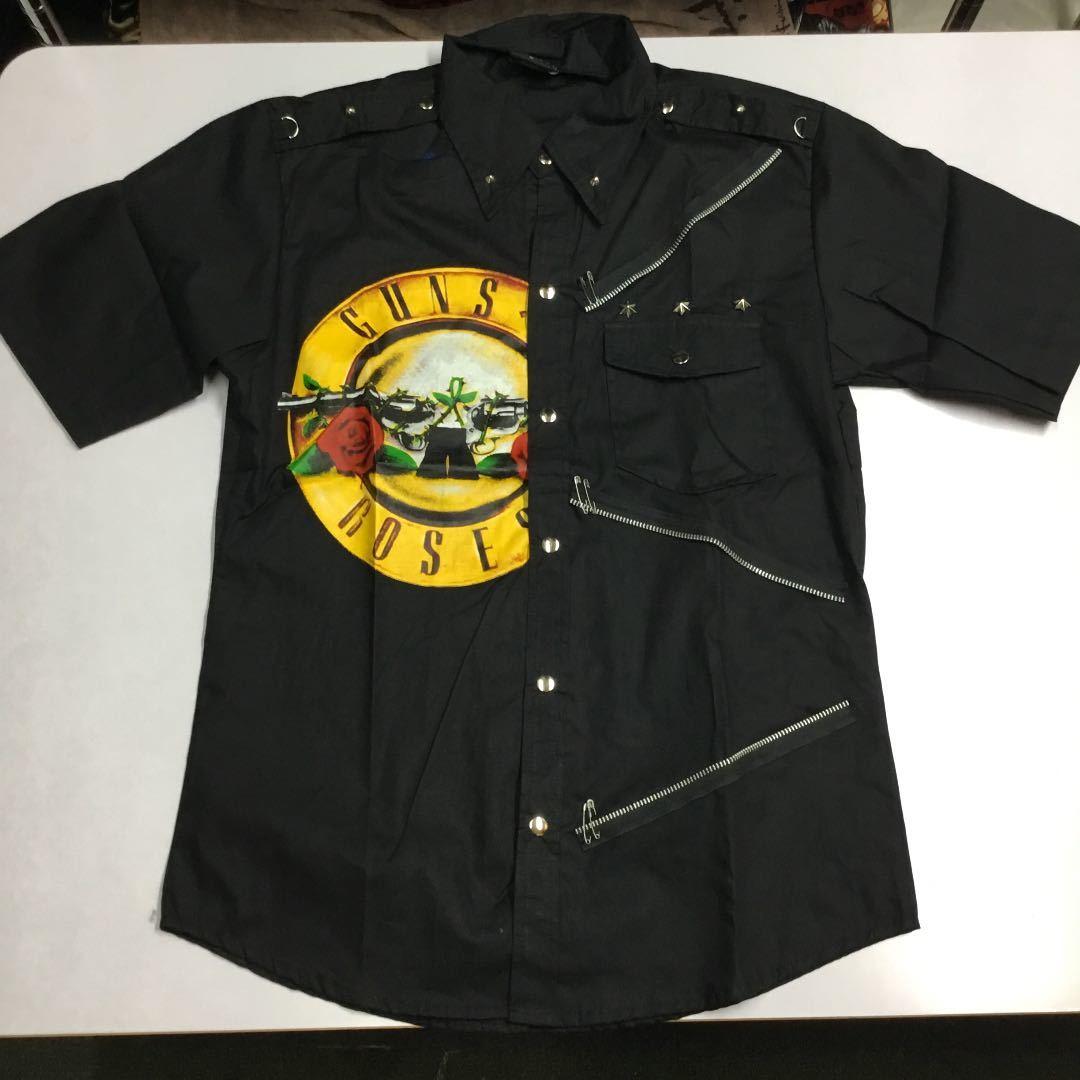バンドデザイン半袖シャツ Mサイズ ガンズアンドローゼズ GNR GUNS N' ROSES ① DBR2C