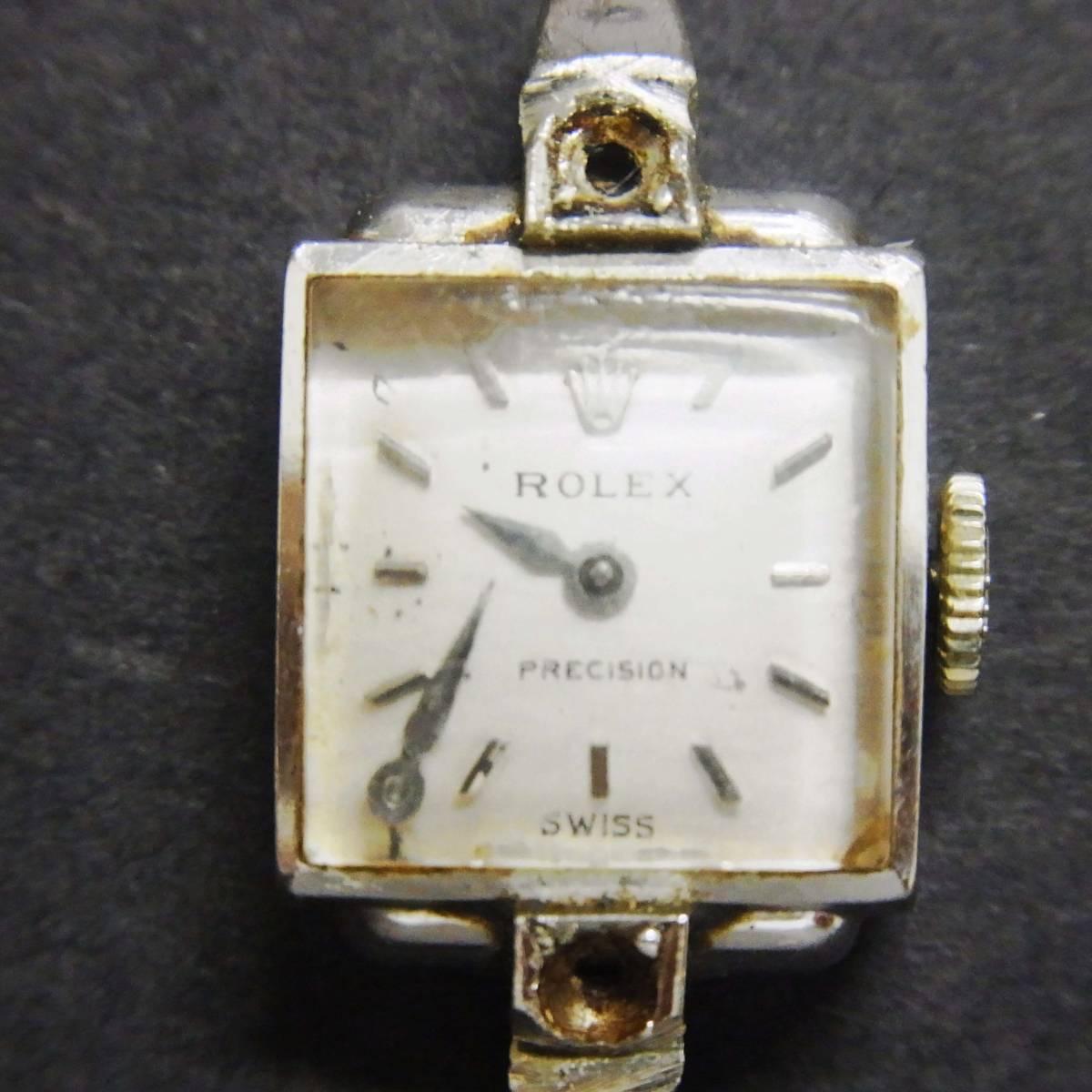 ★ジャンク★ROLEX PRECISION★ロレックス プレジション★レディース手巻き腕時計★18K/750/17石★_画像2