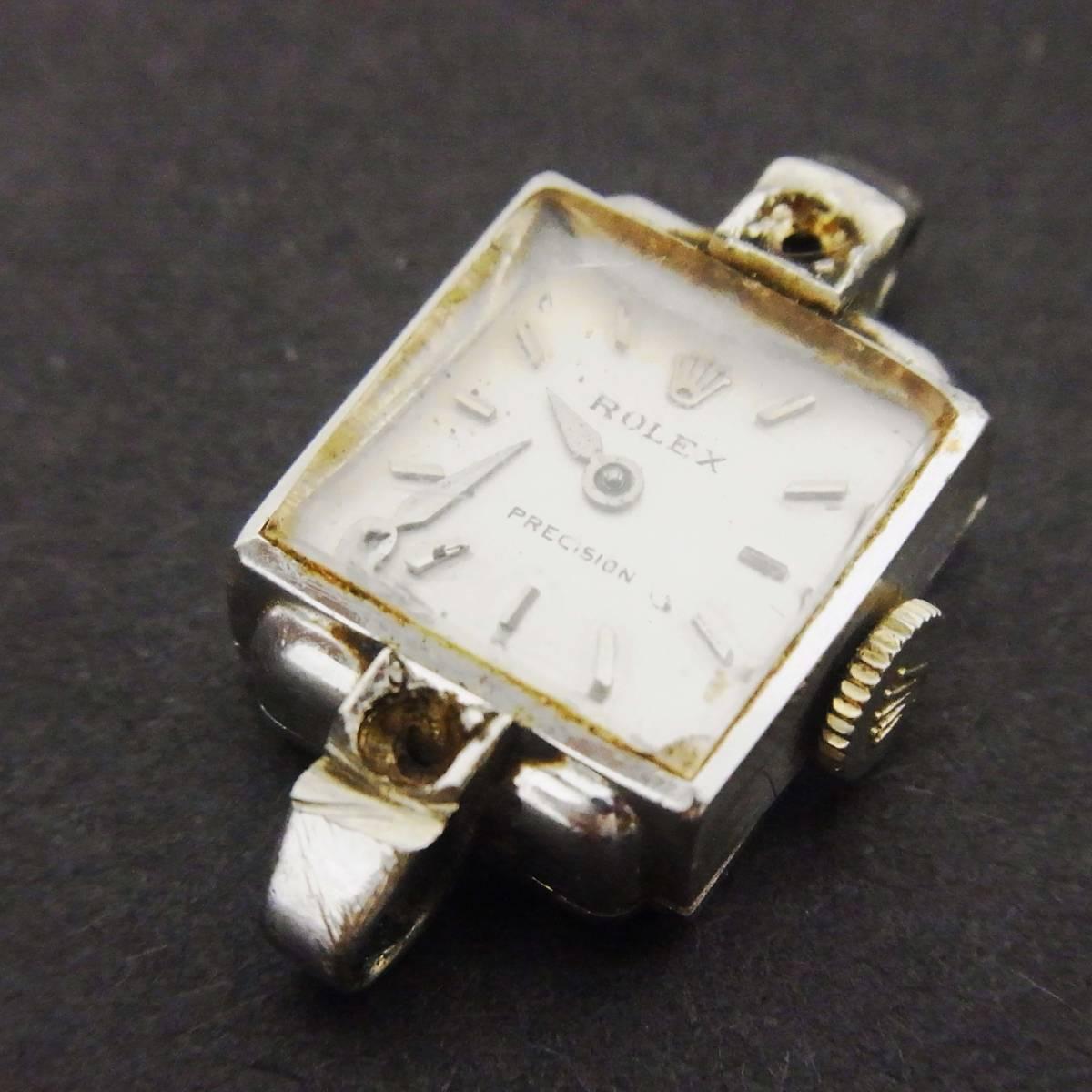 ★ジャンク★ROLEX PRECISION★ロレックス プレジション★レディース手巻き腕時計★18K/750/17石★_画像1