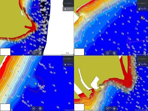 H31.1作成(Ver1.0) ローランス魚探用琵琶湖湖北広域マップ(LOWRANCE REEFMASTER AT5ファイル)_LOWRANCE HDS 魚探画面