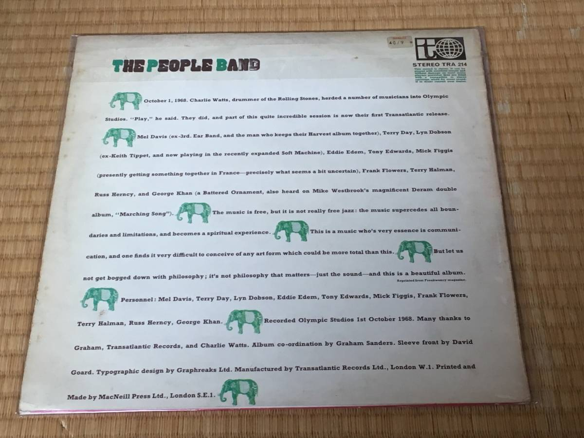 ◆The People Band◆ザ ピープル バンド◆ produced by Charlie Watts ◆ チャーリー ワッツ ◆_画像2