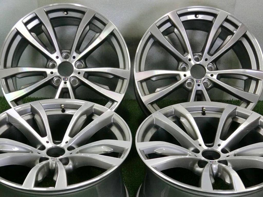 極美品!BMW X5 純正 Mスポーツ アルミ4本 №190625-4 20×10J +40/20×11J +37 *F15・X6 F16等スタイリング469M_画像2
