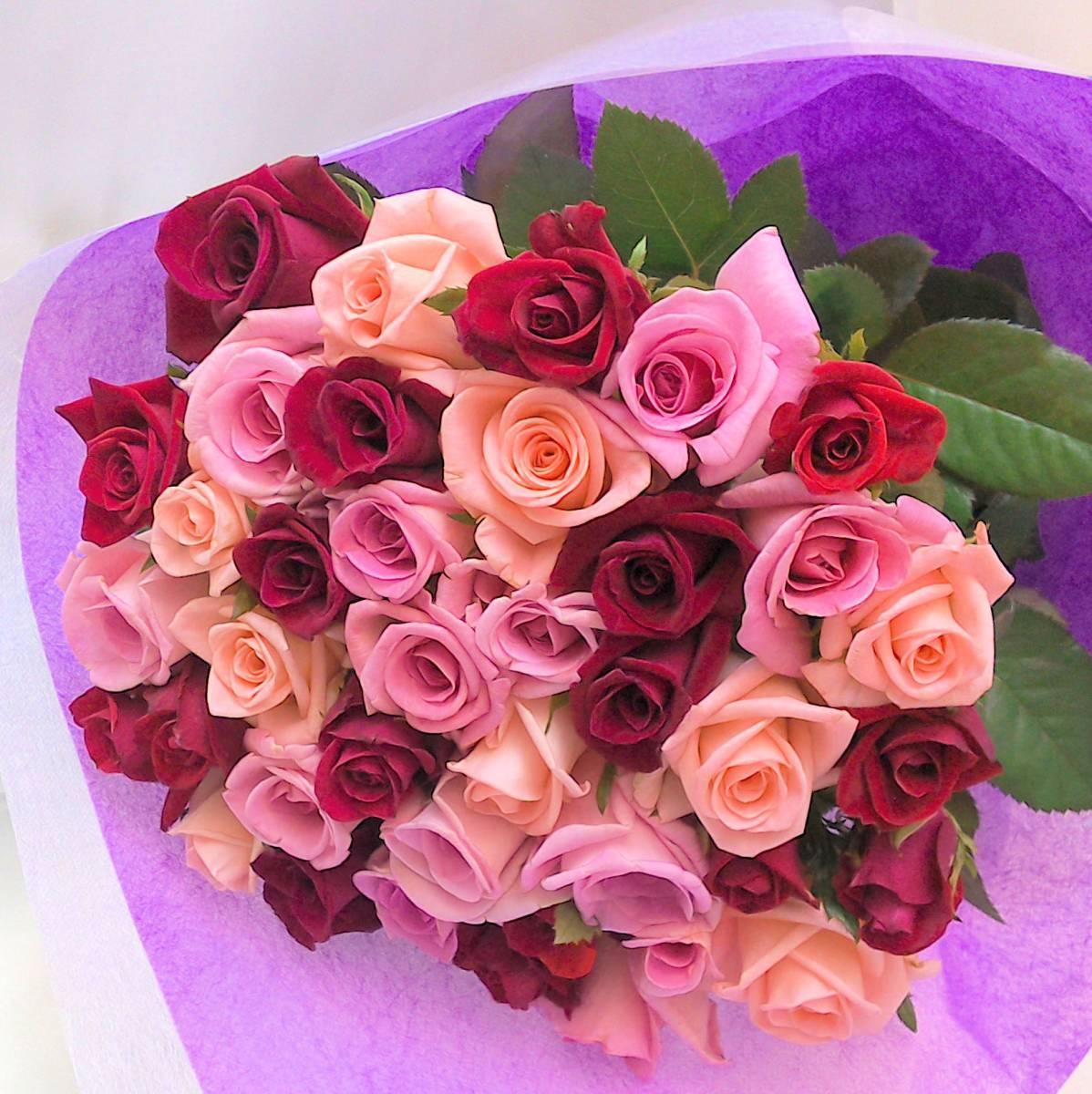 30本のバラ ラッピング付き 送料込み バラの季節到来大特価_画像4