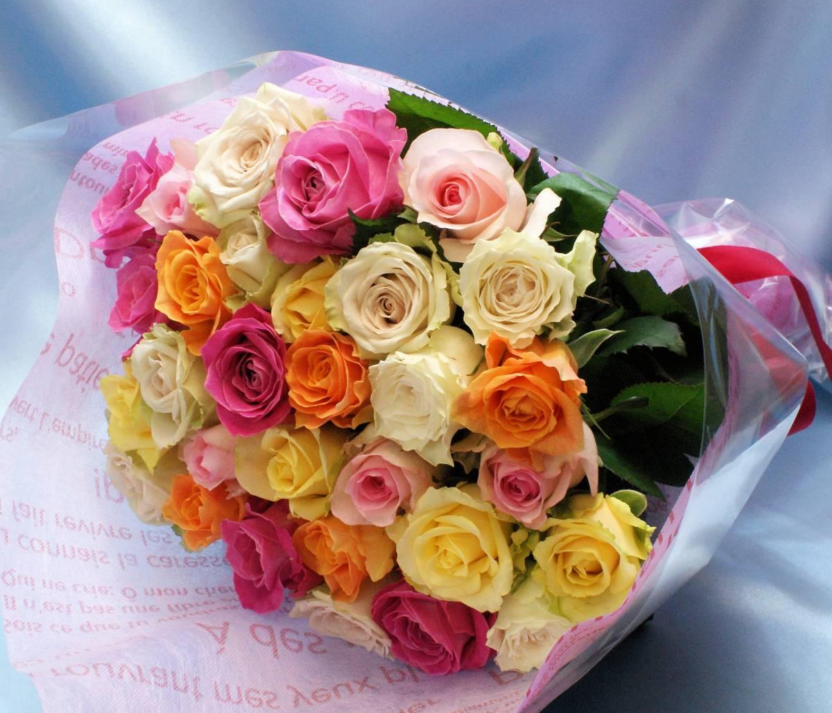 30本のバラ ラッピング付き 送料込み バラの季節到来大特価_画像3