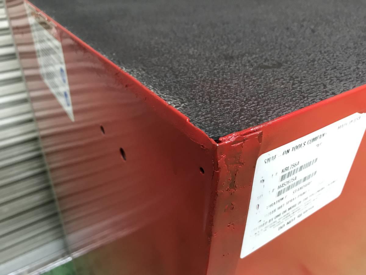 最落無 スナップオン 7段 ロールキャブ 工具箱 赤 KRL756A SNAP-ON 鍵有 中古 キャビネット ツールボックス 収納 ロックンロール ガレージ_画像7