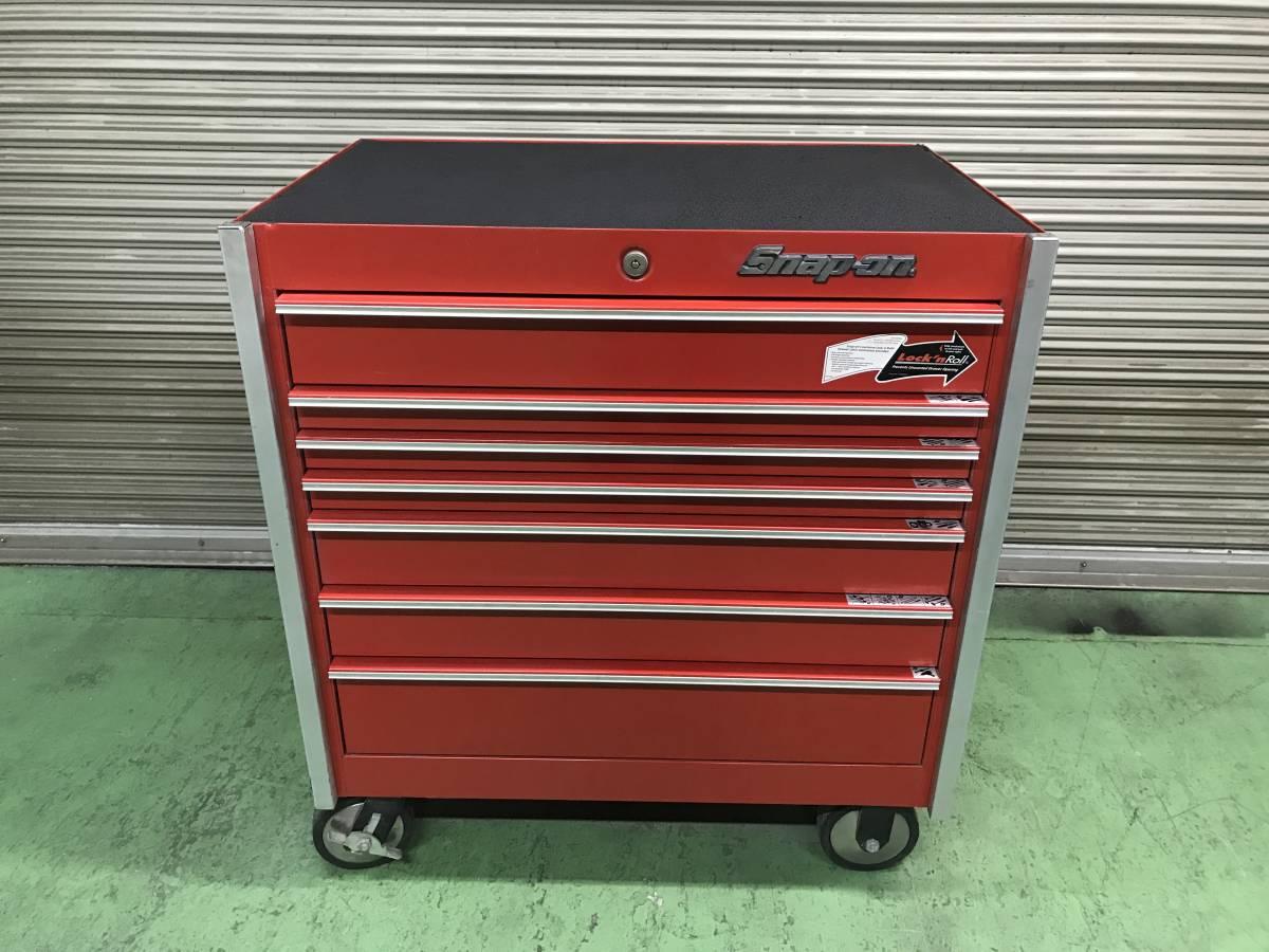 最落無 スナップオン 7段 ロールキャブ 工具箱 赤 KRL756A SNAP-ON 鍵有 中古 キャビネット ツールボックス 収納 ロックンロール ガレージ