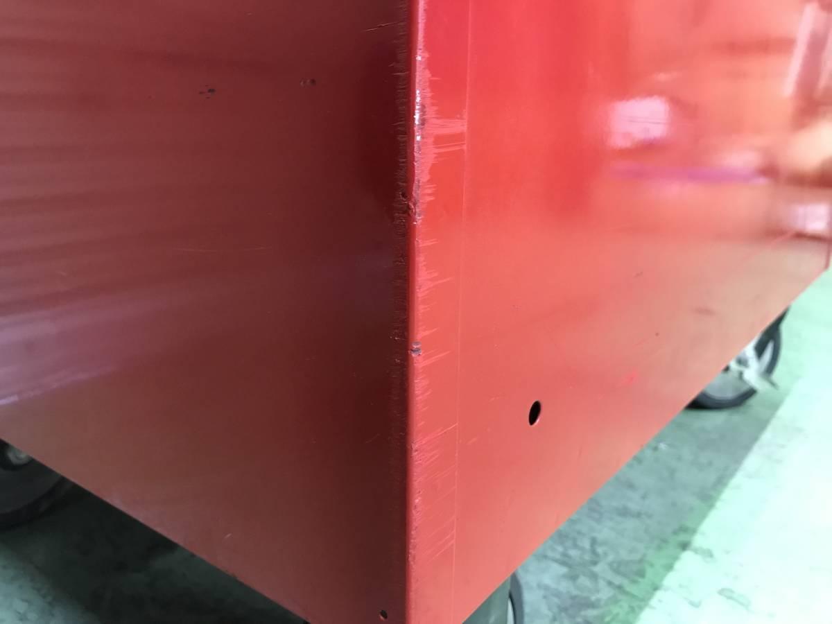 最落無 スナップオン 7段 ロールキャブ 工具箱 赤 KRL756A SNAP-ON 鍵有 中古 キャビネット ツールボックス 収納 ロックンロール ガレージ_画像8